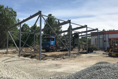 Metal structure project for a new warehouse