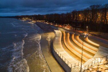 Rails for the new promenade in Sillamäe